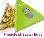 Triangle of Easter Eggs
