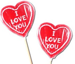 Large Heart Lollies